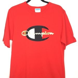 Champion Red T-shirt Mens MD